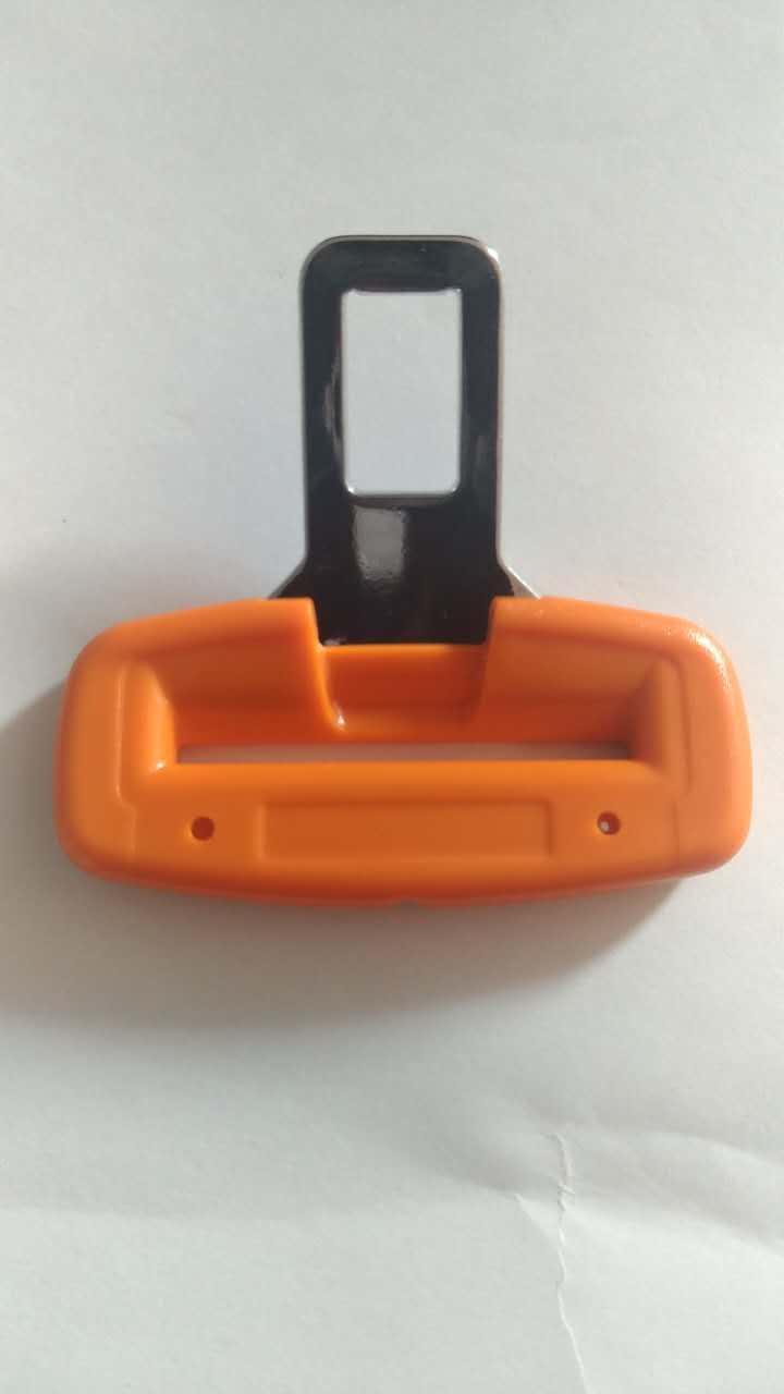 orange color seat belt tongue