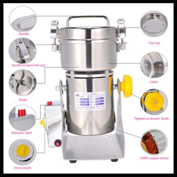 High quality home portable cocoa bean flour mill price CE standards