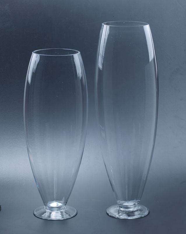 Footed glass vase ,candy jar SYZ030-031