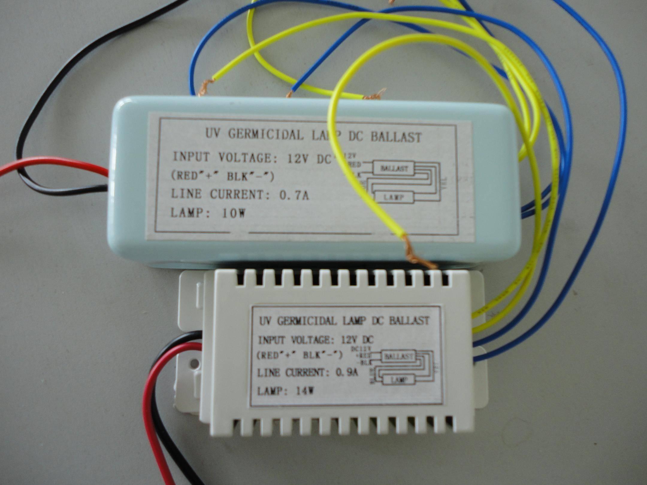 UV germicidal lamp DC ballast(12V 14W)
