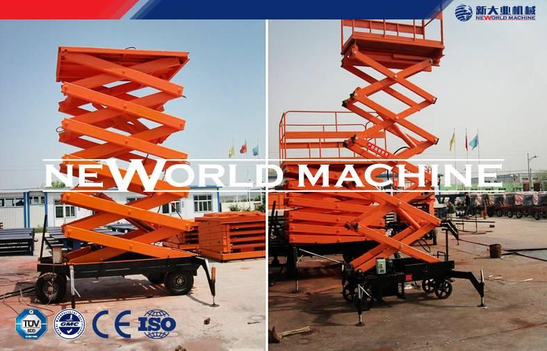 16m Mobile Hydraulic Platform Lift DC 24V Powered , hydraulic lift platform