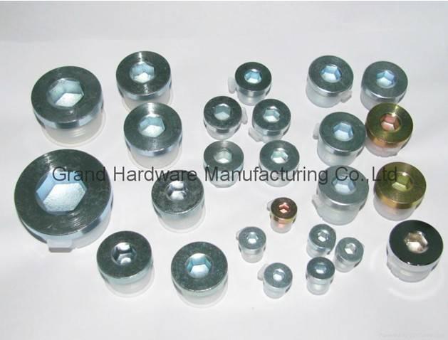 hydraulic steel drain plugs