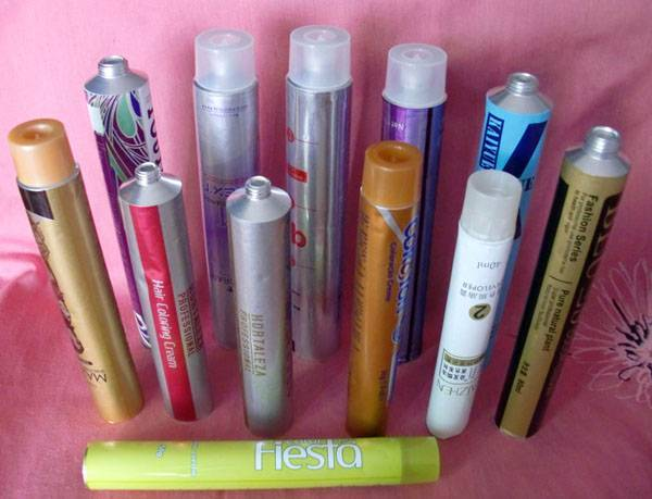 cosmetic tube for hair color