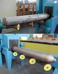 Cylinder sand blasting machine and internal wall shot blaster