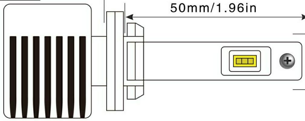 taida Car Accessories T9S LED Headlight 881 Car Led Headlamp