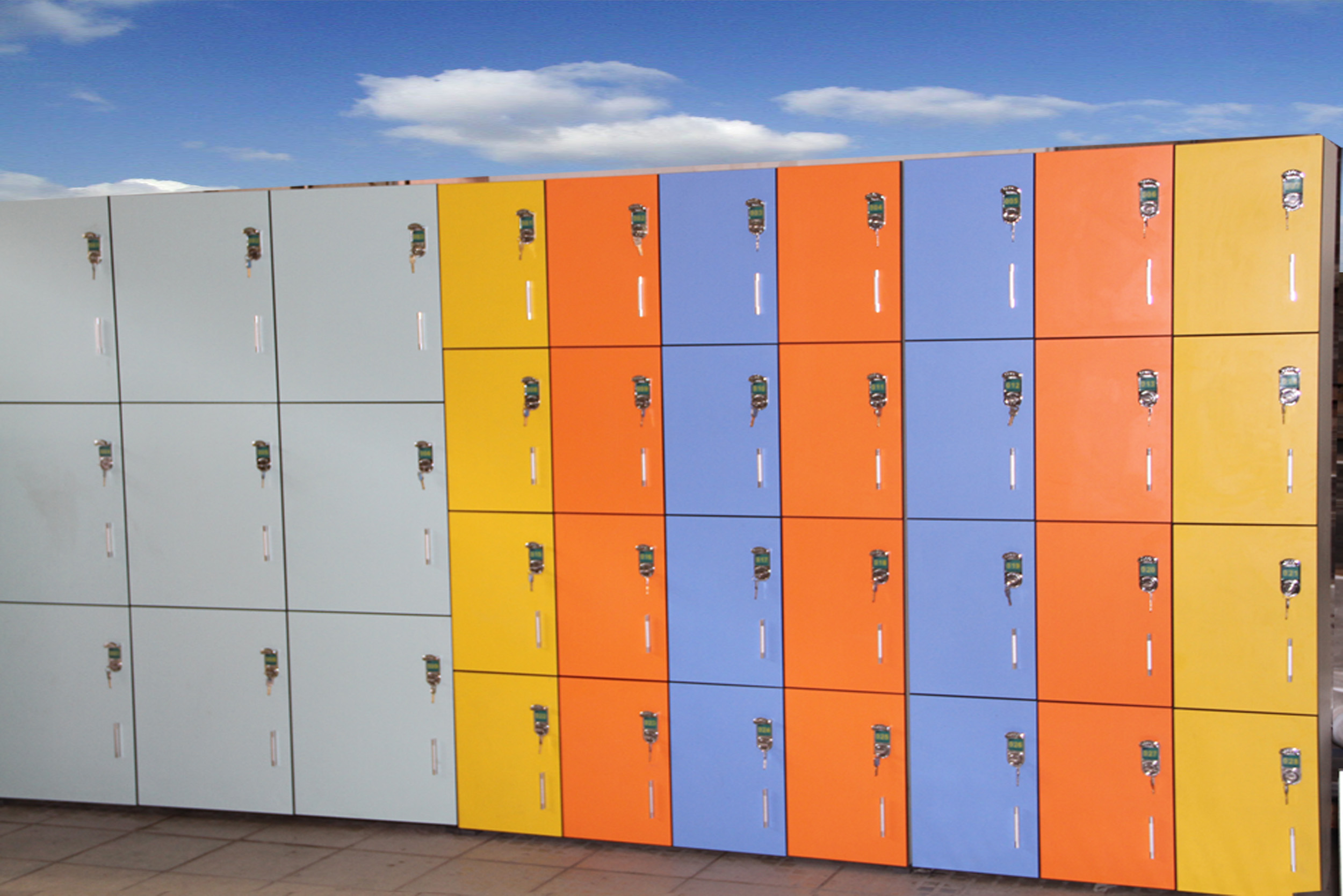 Rich-Lees Fireproof ready made hpl gym locker cabinets