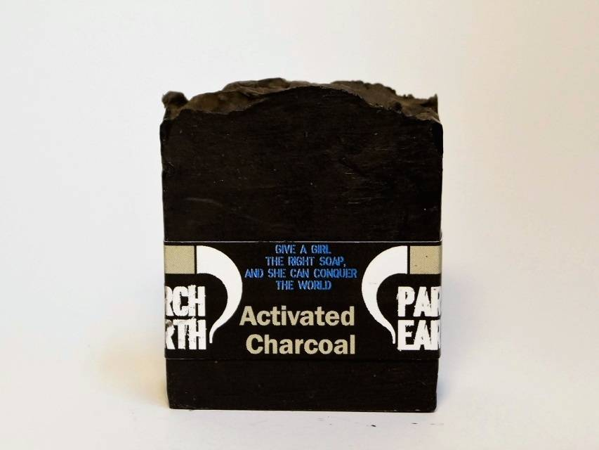 Activated Charcoal Soap  ( Vanilla Black Currant fragrance )