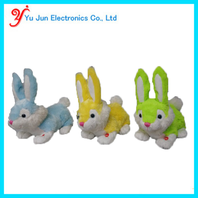 Animated happy easter bunny toy