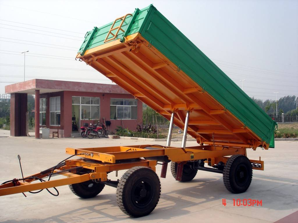 agricultural  three way dumping trailer