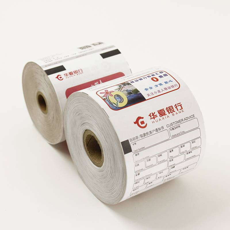 1-8 color printing ATM machine paper roll