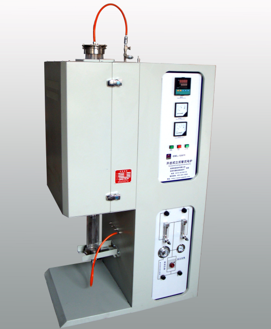1000-1800 high temperature vertical tube furnace with gas control cabinet