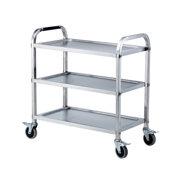 Stainless steel three-tier dining car PC-3M
