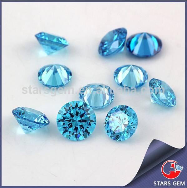 Best Price Whole Sale Beautiflul Aquamarine Blue Cubic Zirconia