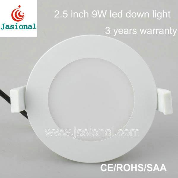 SAA approved 2.5 inch 9w smd led light downlight for kitchen