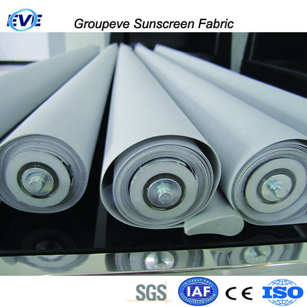 75% Polyester 25% PVC Window Sun Screen Blinds Rolle Fabric Exterior
