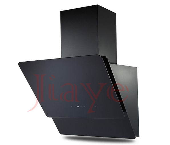 600mm black chimney range hood