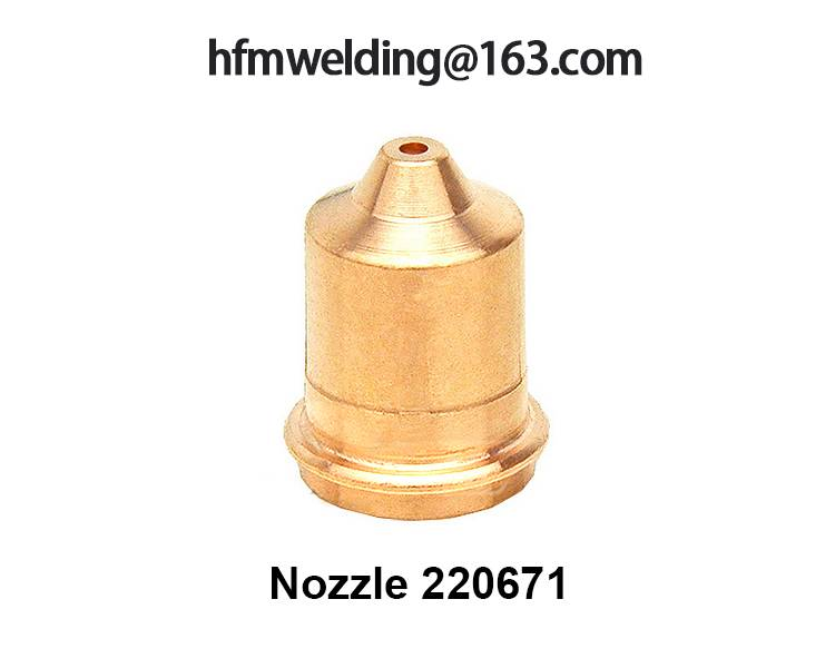 Nozzle 220671 compatible parts for HYPERTHERM power max 45,plasma cuting welding