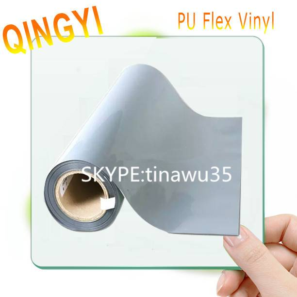 Wholesale silver high-elastic PU heat transfer vinyl with wash resistance