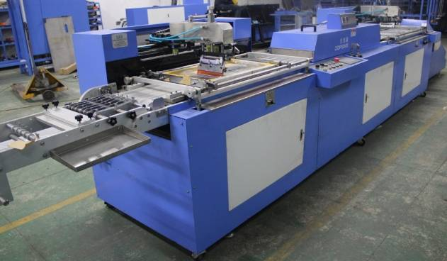 Two colors satin labels automatic screen printing machine