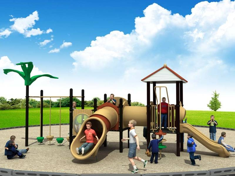 Professional Outdoor Playground Equipment Slide Tunnel Landscape Series WD-JG027