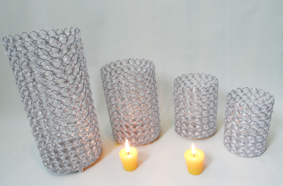 Fashion Style floor standing crystal candle holder