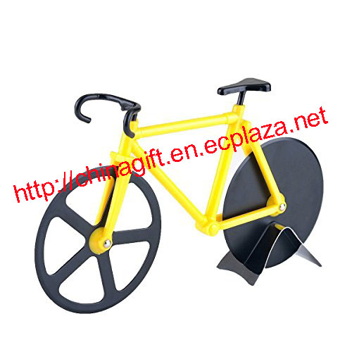 Bicycle Pizza Cutter Pizza Slicer - Dual Stainless Steel Pizza Cutting Wheels of bike cutter