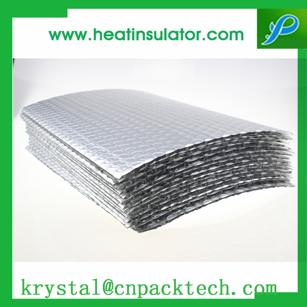 Reflective ECO-friendly Double Bubble Aluminum Layers Thermal Insulation For Building