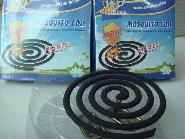 Micro-smoke black mosquito coils