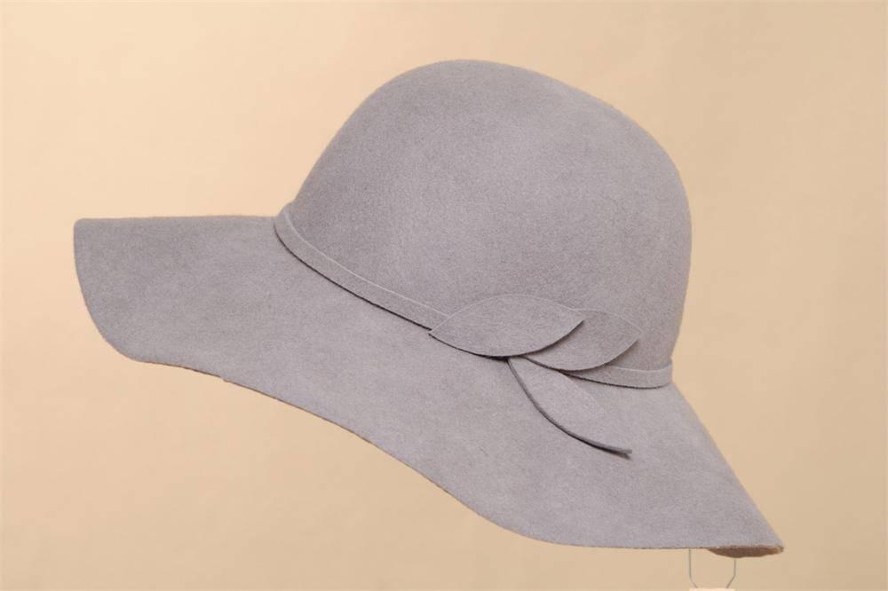 Wool Felt Wide Brim Hat For Woman (FW012156)