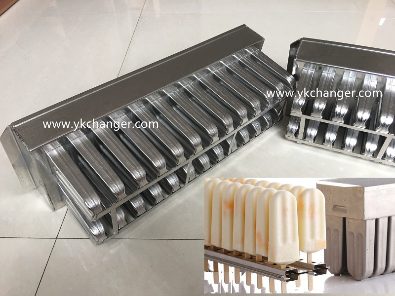 Rigid ice cream mold stainless steel 304 316 material food grade ataforma type including extractor
