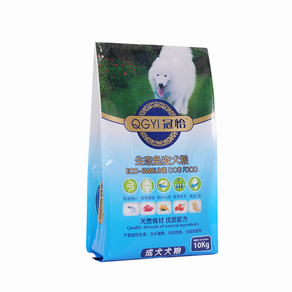 china factory supplier wholesale cheap custom printed pet food resealable dog treat packag