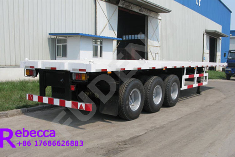 3 axle flatbed trailers flatbed container semi trailer for sale