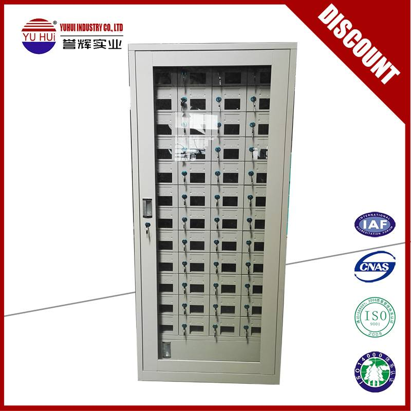 multi small compartment cell phone charging locker
