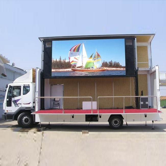 maxv high quality smd full color advertising truck mobile trailer