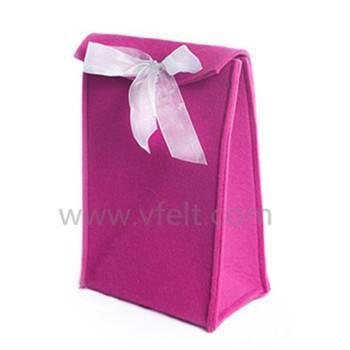 High quality plain color felt gift bag
