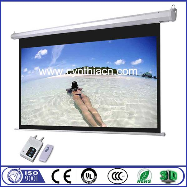 China made electric projector screen auto projection screens
