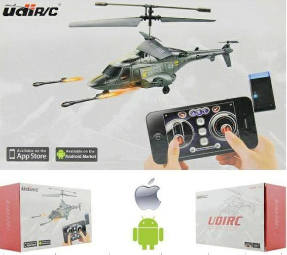 iPhone control Airwolf Launching Missile Gyro 3CH RC Helicopter