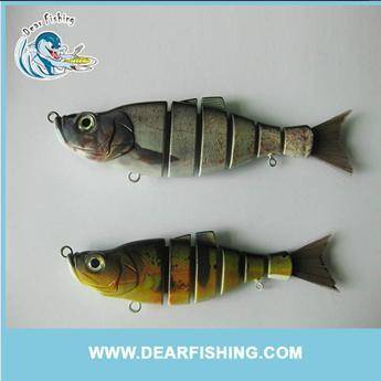 Hair tail 6 section hard fishing lures