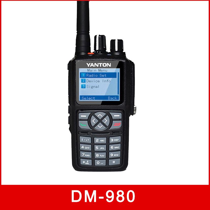 DMR Digital Analog Dual Band CE 1000channels DM-980 walkie talkie