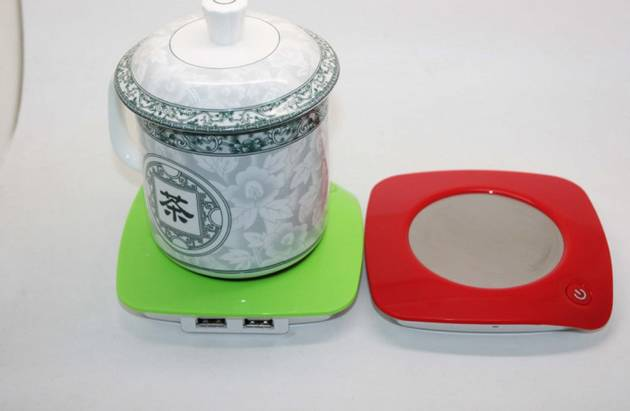 round shape USB CUP WARMER with 4 ports