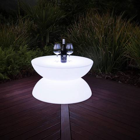 LED coffee table with glowing lights