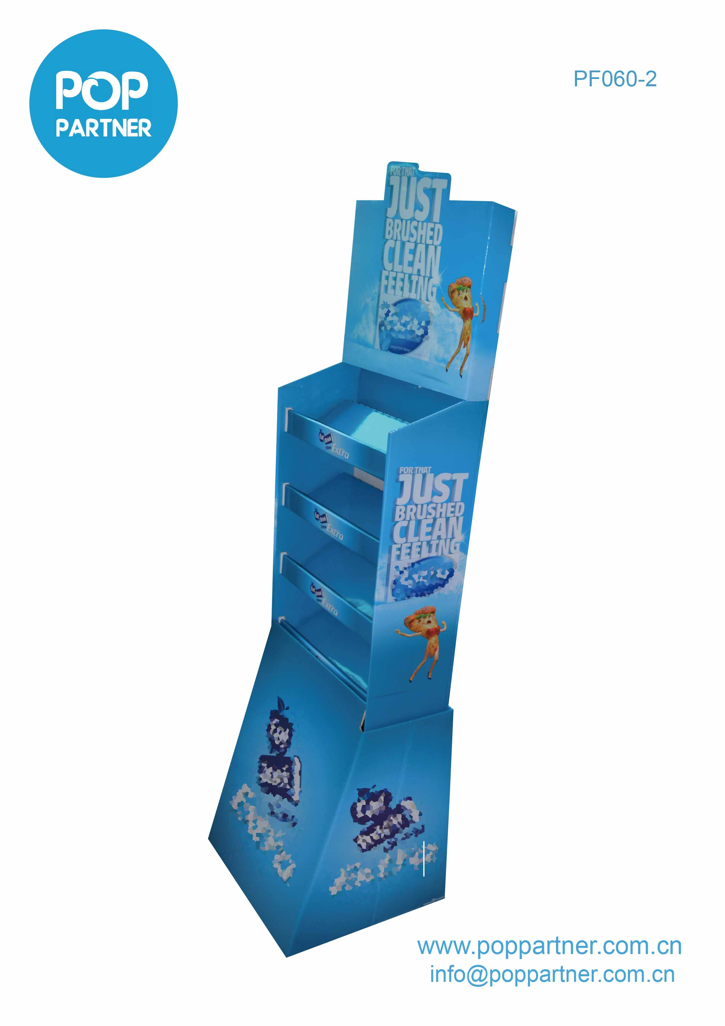 Child toothbrush POP Floor Display Cardboard