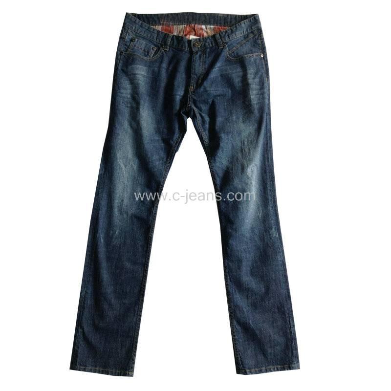 Men's Light Blue Colour Jeans Fashion Narrow Leg Jeans