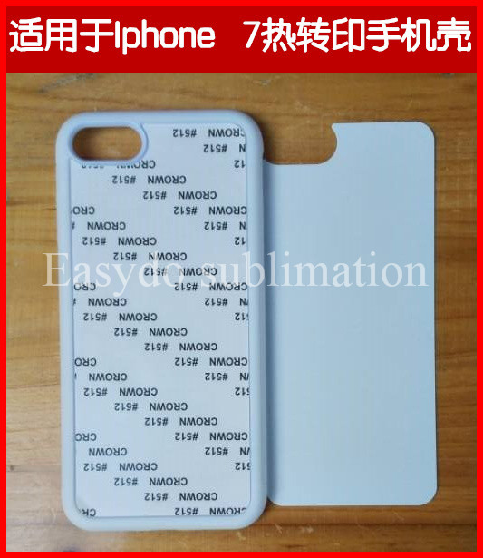 blank sublimation 2D rubber case for iphone 7