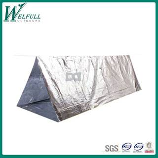 Alumiun foil emergency shelter tent for camping and life saving