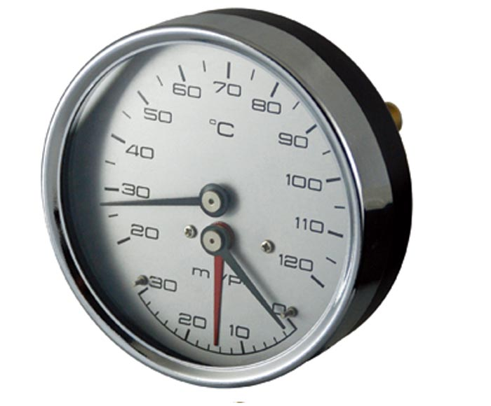 thermobarometer-steel case, direct mount