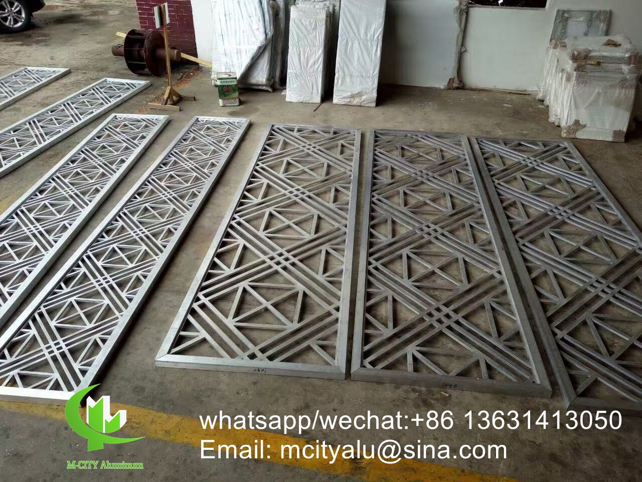 Hollow Metal Aluminum screen panel for room divider with patterns
