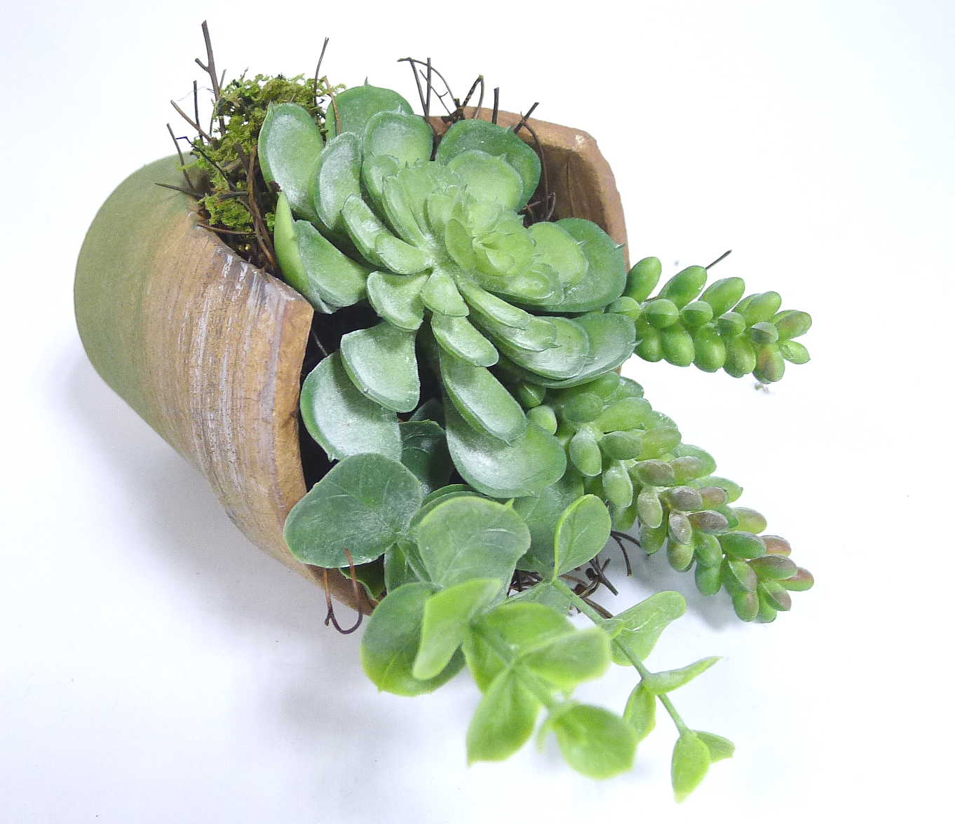 Artificial succulent in terracotta pot home decor faux greenery