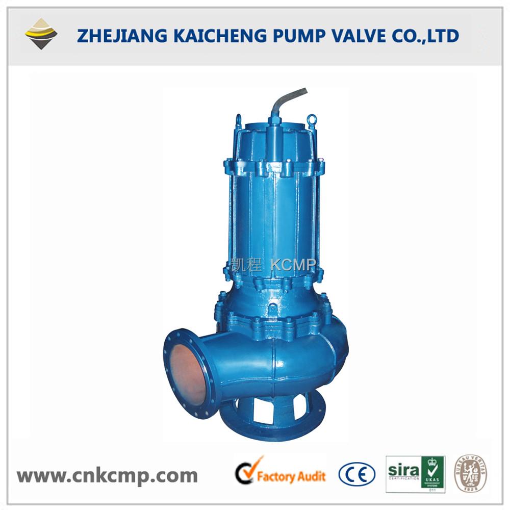 Vertical sewage lifting pump