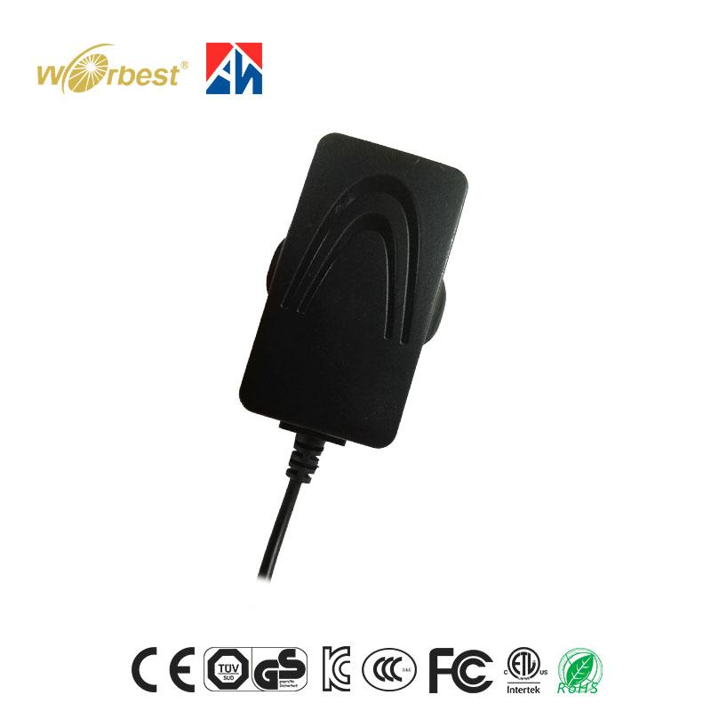 Good quality 12W 12v wall plug ac dc adapter with US/EU/UK/AU Standard
